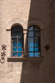 Mullioned window with two lights — Stock Photo