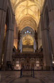 Interior of Seville Cathedral — Stock Photo
