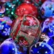 Stock Photo: Christmas background of beautiful balls