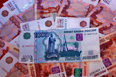 Background of Russian money — Stock Photo