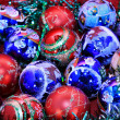Stock Photo: Background of colorful Christmas balls