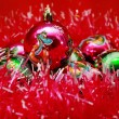 Background of beautiful Christmas balls — Stock Photo