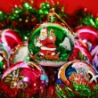 Christmas colored balls close up — Stock Photo