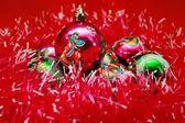 Fond de belles boules de Noël — Photo