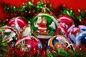 Christmas colored balls close up — Stock Photo