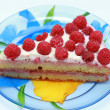 Stock Photo: Cake with raspberries