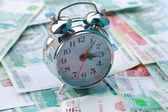 Alarm and Russian money — Stockfoto