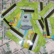 Stock Photo: Passbook and plastic cards on Russibanknotes
