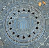 Manhole. Munich. Germany. — Stock Photo