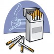 Stock Vector: Cigarettes