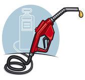 Fuel pump with dispenser — Stock Vector