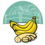 Ripe bananas — Stock Vector