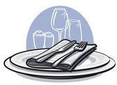 Tisch-einstellung — Stockvektor