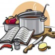 Cooking — Stock Vector