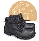 Männer stiefel — Stockvektor