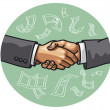 Handshake — Vector de stock #17376955