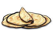 Pita bread — Stock Vector