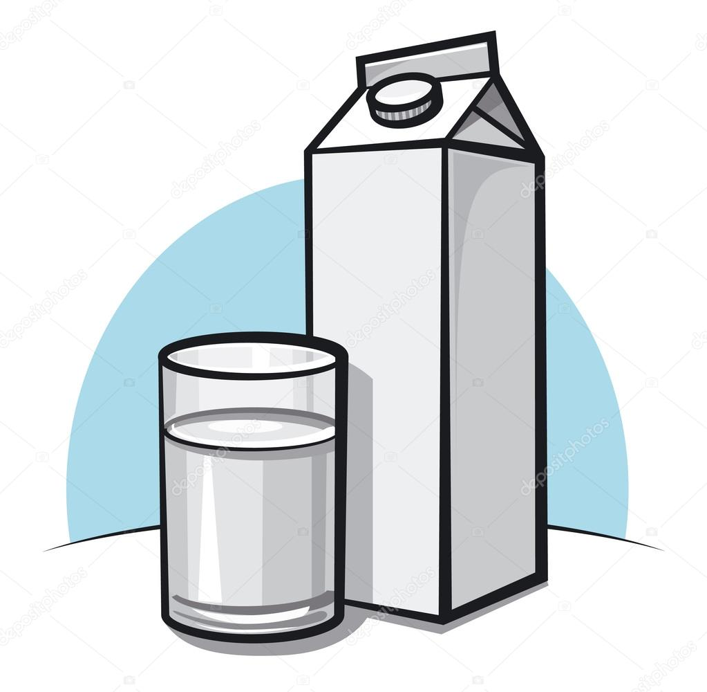 Glass of milk — Stock Vector #17376919