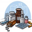 Stock Vector: Drugs and pills
