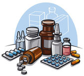 Drugs and pills — Stock Vector