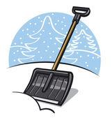 Snow shovel — Stock Vector