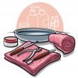 Stock Vector: Manicure tools