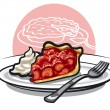 Stock Vector: Strawberry pie