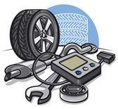 Car service concept — Stock Vector