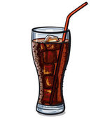 Glass of cola — Stock Vector