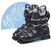 Skischoenen — Stockvector