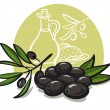 Stock Vector: Black olives