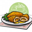 Royalty-Free Stock Vector Image: Chicken kiev cutlet