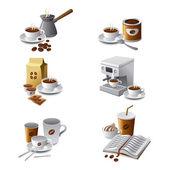 Coffee icon set — Stock Vector