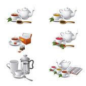 Tea web icons — Stock Vector