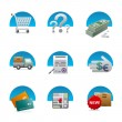 Shopping icon set — Stock Vector