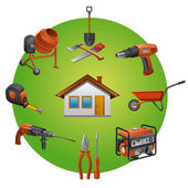 Construction tools icon — Stock Vector