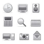 Computer applications icon set — Stock Vector