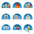 Social media icon set — Stock Vector