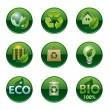 Eco and bio buttons — Stock Vector