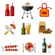 Barbecue icon set - Stock Vector