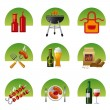 Barbecue icon set — Stock Vector