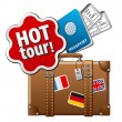 Stock Vector: Hot tour icon