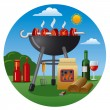 Barbecue icon — Stock Vector