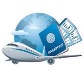 Air travel concept — Stock Vector