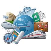 Travel concept icon — Stock Vector