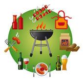 Barbecue icon — Stock Vector