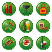 Barbecue icon set — Stock Vector