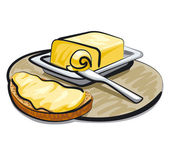 Butter with sandwich — Stock Vector