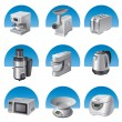 Kitchen appliances icon set — Vector de stock