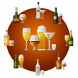 Alcohol drinks icon - Stock Vector